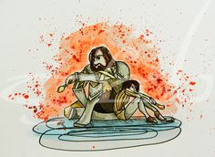 Arya and the Hound by MissMachineArt.deviantart.com on @DeviantArt