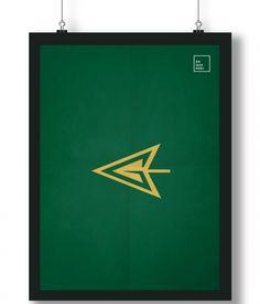 Pôster/Quadro minimalista Arqueiro Verde