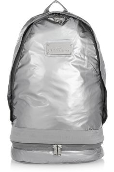 Adidas by Stella McCartney | Metallic backpack | NET-A-PORTER.COM