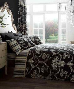 richmond black bedding set