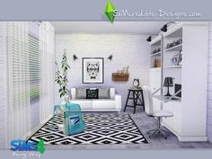 Livingroom by SIMcredible!   Sims 4 CC's - The... - Sims 4 CC's - The Best