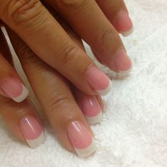 Crystal Gel Nails - I have these and them! Think I'll always keep my nails french manicures like this! Gel Shellac Nails, Gel Nail Tips, Glitter Gel Nails, Diy Nails, Acrylic Nails, Acrylics, Gel Nail Art Designs, Nail Design Video, Pretty Nail Designs