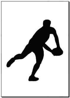 Posters of Sport Silhouette - Rugby Player Making Running Pass - murals, photographic prints, canvas print, wall decor, poster print - Rugby League, Rugby Players, Football Players, Rugby Cake, Rugby Poster, Blue Nose Friends, Sports Graphics, All Blacks, Medical Illustration