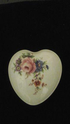 Floral heart trinket box by CrazyladysEmporium on Etsy