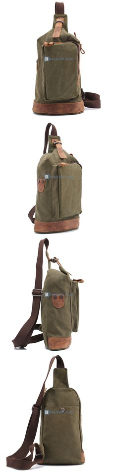 $61.12 Canvas Sling Bags For Men Single Strap Backpacks