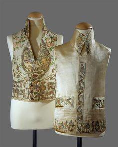 Men's vests from 1820's. Museu Nacional do Traje.