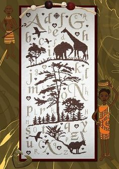 "Isabelle Haccourt Vautier  ""Sampler Africa"" -  elegant!"