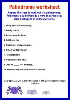 Best Palindromes Images Words Activities Figurative Language