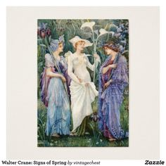 Walter Crane: Signs of Spring Business Card