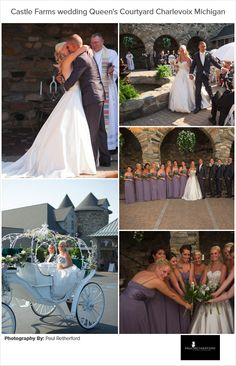 Weddings in the Queen's Courtyard at Castle Farms in Charlevoix, Michigan by Paul Retherford #CastleFarms #Wedding #NorthernMichigan