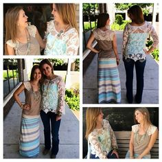 Just look at these two! Love both outfits! Get both with BOGO 50% off your entire purchase!  Southern Thread Austin, TX.