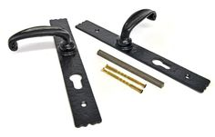 Kirkpatrick 2461 Rydale Lever Patio  Door Handle - A pair of high quality, cast iron lever door handles. Ideal to use on a patio door as it a euro lockplates 3-way locking system . Unsurpassable British quality, hand forged in a foundry in the West Midlands.