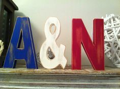 Set of 3  Handpainted Wooden Freestanding Wedding by LoveLettersMe, £16.50