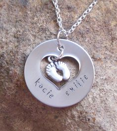 New Mom Push Present Mothers Day Hand Stamped by lilybrookevintage, $24.00
