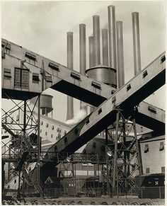 """Charles Sheeler, """"Criss-Crossed Conveyors, River Rouge Plant, Ford Motor Company"""", gelatin silver print (photo), 1927, The Metropolitan Museum of Art"""