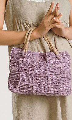 10-42 Summer Slub Purse Pattern by Pierrot Yarns (Gosyo Co., Ltd) (Ravelry), Free, Follow link and search in Bag Patterns.