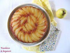 Framboises & bergamote: Gâteau renversé aux poires caramélisées