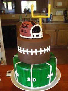 The DeSpain Family : Football Birthday Cake