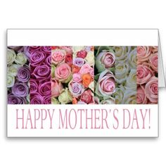 Happy Mother's Day rose card Note Card
