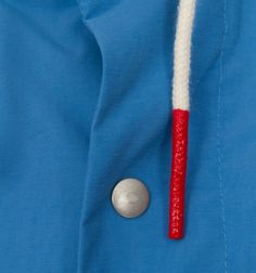 Cord, rope, dip, fabric, blue, red, jacket, detail
