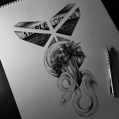 Kobe Bryant Tattoos, Astronaut Tattoo, Old School Tattoo Designs, Black Mamba, 4 Life, Black Panther, Tattos, Ideas Para, Cali