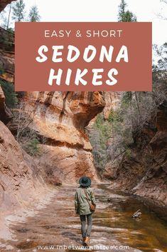 3 Easy & Stunning Hiking Trails in Sedona, Arizona - USA Destinations Arizona Road Trip, Sedona Arizona, Arizona Travel, Jerome Arizona, Grand Canyon, Las Vegas, Tucson, Nevada, Places