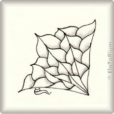 Zentangle-Pattern 'Betweed Flower' by Annette Collins, presented by www.musterquelle.de