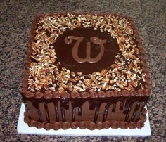 Chocolate Grooms Cake-could be done as german chocolate. My Sweetie's favorite!