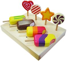 Wooden Ice Creams & Lollipops