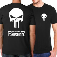 fb69d19537 War Zone PUNISHER Short Sleeve Shirt for Men. Camiseta De SupermanCamisetas  De CalaveraEntrenamiento FísicoHombres