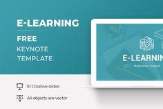 E-Learning Free Keynote Presentation Template Free Powerpoint Presentations, Powerpoint Template Free, Powerpoint Presentation Templates, Corporate Brochure, Layout Template, Keynote, Business Marketing, Teaching, Education