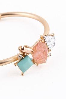 Luxury Stones Hinge Bracelet