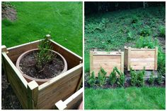 Nice Pallet Planter  #garden #palletplanter #recyclingwoodpallets Big planters made from recycled wooden pallets.  ...