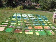 mozaikwork in grass