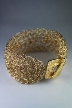 Wire Crochet Band Bracelet Liked these items? want to learn more about wire crocheting? please vist yoolas store http://www.yooladesign.com/collections/learn-crochet-with-wire