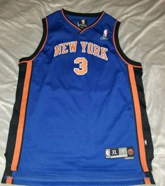 057ac358acf4 Vintage Reebok STEPHON MARBURY NEW YORK KNICKS Youth NBA Team Swingman  JERSEY XL  Reebok
