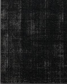 Distressed Wool Rug Black