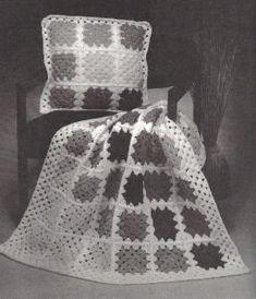 Free Crochet Patterns Lapghan & Pillow