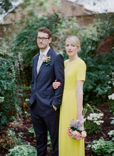 Bright yellow bride: http://www.stylemepretty.com/destination-weddings/2016/06/20/forget-white-this-bride-embraced-color-with-a-yellow-wedding-dress/ | Photography: Clean Plate Pictures - http://www.cleanplatepictures.com/