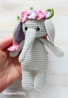My elephant came out adorable. Easy to understand and make. Thanks for making the pattern. Smiles #amigurumi #amigurumidoll #amigurumipattern #amigurumitoy #amigurumiaddict #crochet #crocheting #crochetpattern #pattern #patternsforcrochet