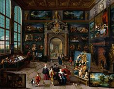 "The Younger Frans Franken (1581-1642), ""Gallery of Collectors"" 1630, collection of Schönborn - Buchheim, Vienna"
