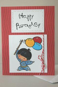 Birthday Greeting Card, Handmade Birthday Card, Boy Birthday Card, Birthday Card Handmade, Child Birthday Card, Balloon Birthday Card by GluePaperScissorsCA on Etsy