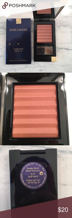 NEW Estée Lauder blush New Estée Lauder blush in deep spice 517/17. Tender blush. Full size .28 oz in compact with brush. In box. Sephora Makeup Blush
