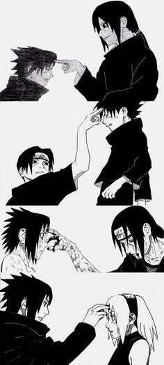 Sasuke, Itachi y Sakura