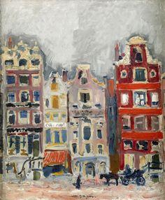 Kees Van Dongen, Casas en Amsterdam,1907. Óleo sobre lienzo, 65,5 x 53,7cm , Colección particular
