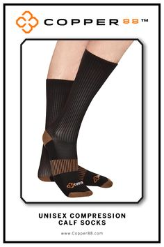 The only product to have 88% copper embedded in it's fabric. These comfortable Calf High Compression Socks are available from sizes 6-9 and 8-11. Form Fitting and aid in performance and recovery time.Comfortably worn during exercise, daily activities and rest Super-fast wicking keeps garments dry.Antibacterial and anti-odour properties will keep you feeling and smelling fresh. Copper88™ fabric attributes are inherent in all our garments and will last for as long as you own our products