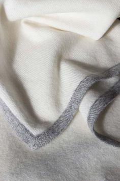 OYUNA — Amo Baby Blanket Ivory/Soft Grey