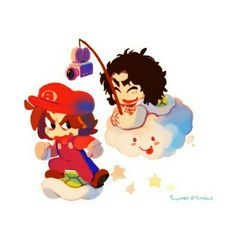 Danny and Arin doing a Mario :P