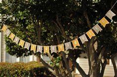 Yellow & Gray Wedding Banner