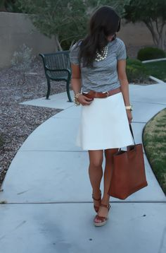 more outfit inspiration for the J.Crew fluted skirt because I'm obsessed